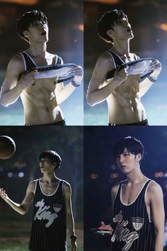 No Min Woo shows off his abs on the set of The Greatest Marriage