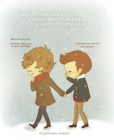 awweee :') and i would just to let you guys know I DO NOT SHIP LARRY!!! i just thought this was extremely cute!
