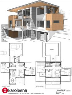 Check out these custom home designs. View prefab and modular modern home design ideas by Karoleena. Check out these custom home designs. View prefab and modular modern home design ideas by Karoleena. Modern House Plans, Modern House Design, House Floor Plans, Villa Design, Custom Home Designs, Custom Homes, Custom Design, Casas Containers, Layout Design
