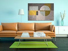 31701 Obraz na płótnie - KWADRATY geometria 120x80