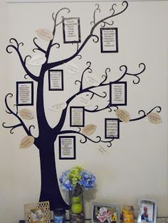 Prayer tree with framed Bible verses, answered prayers and prayer requests! War Room, Prayer wall idea.  Mama's Gone Crafty: DIY Crafty Home/Kids Projects