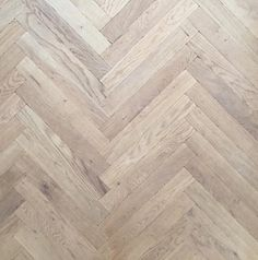 Oak herringbone floor