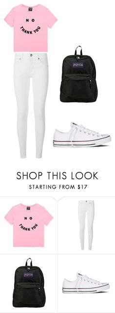 """School Outift : Haters Gonna Hate"" by bethany-franco on Polyvore featuring Burberry, JanSport, Converse and school"