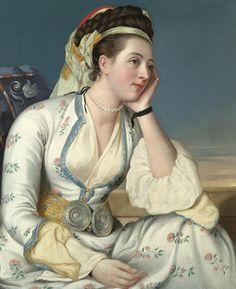 Young lady in Turkish costume,c. 1740 Antoine Coypel