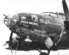 This was the legendary B17 which the crew of this bomber the 'Hells Angels' named their Motorcycle club from.