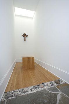 Hidden Room, prayer room design by Cumulus Architecture + Design, LLC. www.cumulusarchitecture.com. Photography by Matthew Mayse.