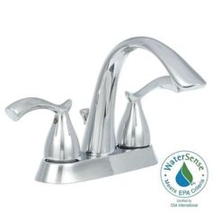 Glacier Bay Edgewood 4 in. Centerset 2-Handle High-Arc Bathroom Faucet in Chrome-462EC-05101 - The Home Depot