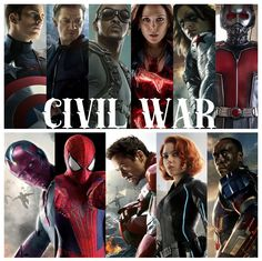 Official Team Iron Man & Team Captain America Sides In 'Civil War' TEAM Captain America Hawkeye Falcon Scarlet Witch Ant-Man The Winter Soldier TEAM Iron Man The Vision Spider-Man Black Widow War Machine Who side are you on? Marvel Dc Comics, Marvel Avengers, Avengers Team, Captain Marvel, Marvel Characters, Marvel Movies, Iron Man Team, Destiel, Johnlock