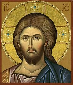 Icon of Jesus Christ Byzantine Icons, Byzantine Art, Religious Icons, Religious Art, Roman Church, Paint Icon, Religion, Christian Artwork, Jesus Face