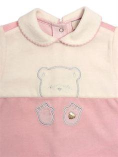 f2688599da11 armani junior - kids-girls - outfits   sets - cotton chenille romper   bib