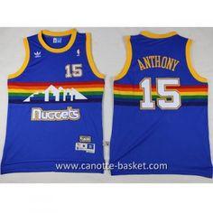 canotte nba Denver Nuggets Carmelo Anthony #15 blu