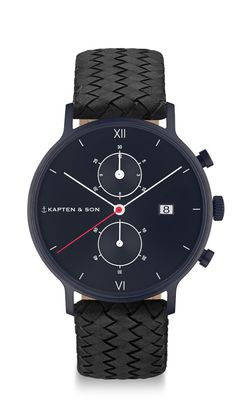 The watch for real men: The black chronograph | Kapten & Son