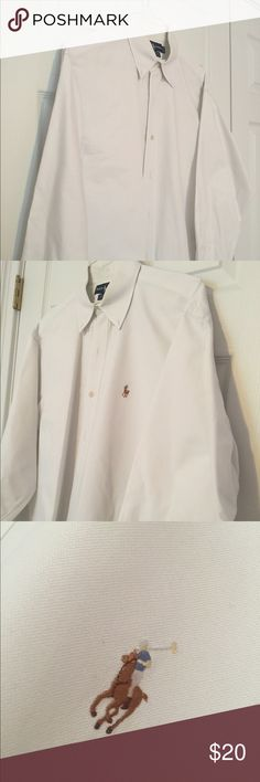 """Men's Ralph Lauren buttondown shirt Super nice white men's buttondown shirt by Ralph Lauren. Style is """"Yarmouth"""" and it's in great condition. Ralph Lauren Shirts Casual Button Down Shirts"""