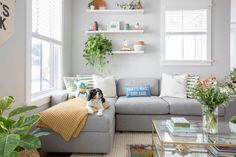 From freshening up your fabrics to doing a deep clean, there are plenty of projects to help you transform your living room from a cozy winter hideaway to an uplifting spring oasis. Furniture Catalog, New Furniture, My Living Room, Living Room Decor, Beds For Small Spaces, Ikea Couch, Animals For Kids, Leather Sofa, All Modern