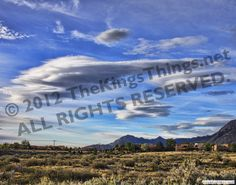 AMAZING LENTICULAR CLOUDS in New Mexico by cloud photographer b.j.king of TheKingsThings.net