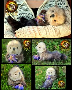Handmade Poseable Baby Otter Poppy! by Wood-Splitter-Lee.deviantart.com on @DeviantArt