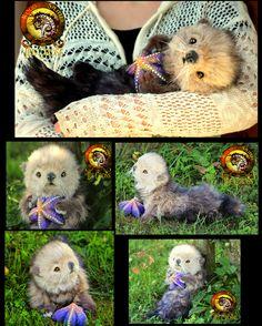 Handmade Poseable Baby Otter Poppy! by Wood-Splitter-Lee.deviantart.com on @DeviantArt