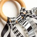 DIY Wooden Ring Ribbon Teether by Plain Vanilla Mom