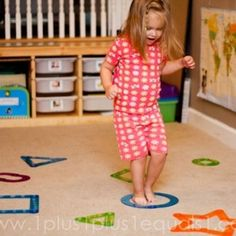 Learning shapes by jumping