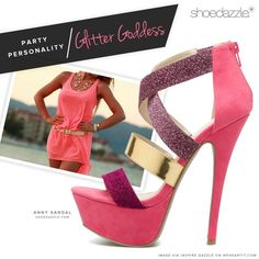 Love that dress. Walking Tall, Pink High Heels, Dope Swag, Glitter Girl, Glam Girl, Shoe Dazzle, Shoe Game, Cute Shoes, Girls Shoes