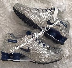 81e794917ef6 Custom Swarovski Crystal Designed Bridal Nike Shox Shoes - Swarovski Crystal  - Custom Bridal Nikes -