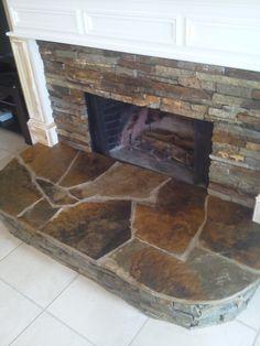 Custom Stone Indoor Fireplace Katy, TX