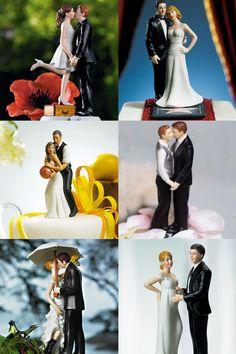 Des figurines de gâteau de mariage