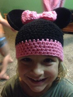 Crochet hat Minnie Mouse