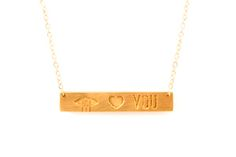EYE LOVE YOU BAR NECKLACE  VALENTINES GIFTS