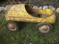 Vintage pedal car - I don't think it will take anywhere lol