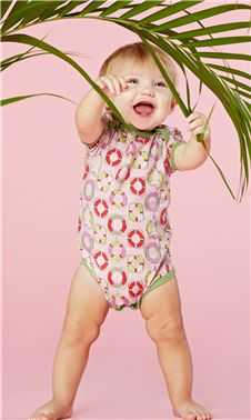 Bedhead Kids Pink Lifesavers Onesie | Living Water Home Spa Shop #bedhead #pjs #infant #baby #childrens #pink #onesies