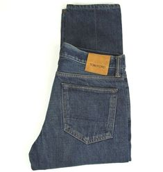 Men`s New Tom Tailor Slim Straight Jeans Size W31-L32 Mid Blue RRP £54