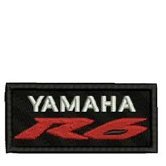 Yamaha R6 Red/Black/White Embroidered Patch, $5.99. FREE SHIPPING!