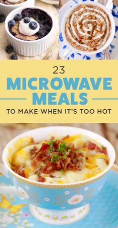 23 Microwave Meals You Can Make When It's Too Hot To Cook is part of Microwave recipes - Make 'em in your dorm room, at work, or when you're just feeling lazy Microwave Mug Recipes, Microwave Dishes, Healthy Microwave Meals, Healthy Breakfasts, Eating Healthy, Microwave Cooking For One, Microwave Breakfast, Clean Eating, Healthy Food