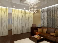 Modern Living Room Zoning Methods Collection. Sliding doors for separation of the area