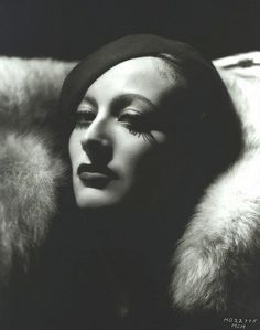 Joan Crawford, with mighty lashes.