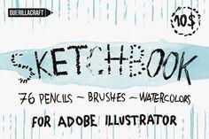 Sketchbook Brushes for Illustrator by Guerillacraft on Creative Market