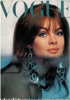 Jean Shrimpton on the cover of Vogue UK, July 1966. Photo by Brian Duffy.