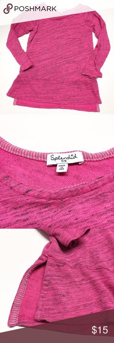 Splendid Sweatshirt Sz 5/6 Splendid Pink & black sweatshirt. Size 5/6. EUC Splendid Shirts & Tops Sweatshirts & Hoodies