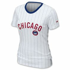 Nike MLB Chicago Cubs  Women's Pinstripe Tee Shirt  http://www.finishline.com/store/product/nike-mlb-chicago-cubs--women-s-pinstripe-tee-shirt?categoryId=cat10015=prod687923