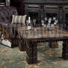 The Richland square coffee table is made of reclaimed wood harvested from old barns and factories. Home Living Room, Home Furnishings, Home, Sectional Sofa With Recliner, Sofa, Rustic Dining Table, Coffee Table, Furnishings, Home And Living