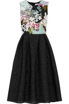 Erdem | Green Carpet Challenge Shirlette embroidered satin and matelassé dress | NET-A-PORTER.COM