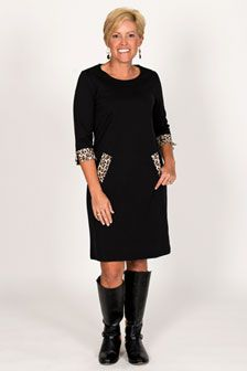 Lindsay 3/4 Sleeve Shift Dress