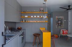 Venice Micro Apartment - contemporary - Kitchen - Los Angeles - Vertebrae Architecture