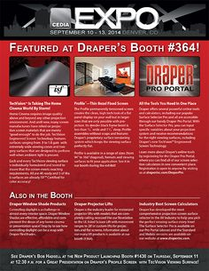 Make sure to stop by our booth (#364) at CEDIA this year! #HomeTheater #HomeTheatre #homeentertainment #homecinema #CEDIATweeps