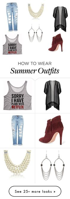 """Feeling Pretty"" by luvly313 on Polyvore featuring Maxima, Rebecca Minkoff, Bling Jewelry, Genetic Denim and Blu Bijoux"