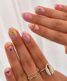 Fancy Nails, Pretty Nails, Funky Nail Art, Flower Nail Designs, Manicure E Pedicure, Fire Nails, Minimalist Nails, Hot Nails, Dream Nails