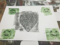 heart with 4 faces