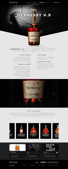 http://www.hennessy.com #alcohol #websitedesign #webdesign #beverage #brand #food