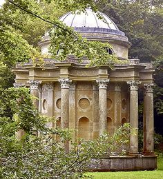 """Pride and prejudice"" locations. The Temple of Apollo, Stourhead Gardens, Wiltshire, England. (Pride and Prejudice 2005)"